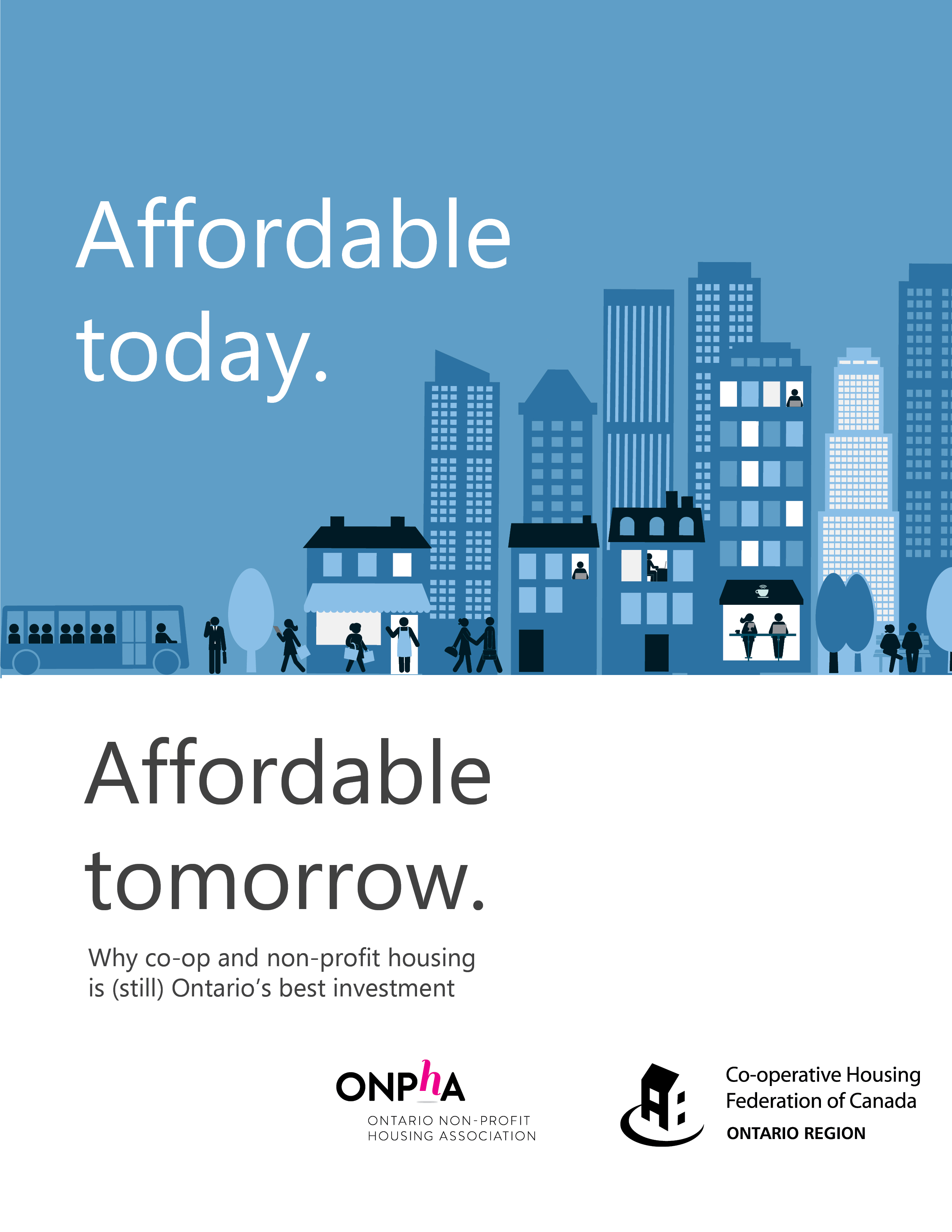Cover page of ONPHA and CHF's Affordable Today, Affordable Tomorrow brochure